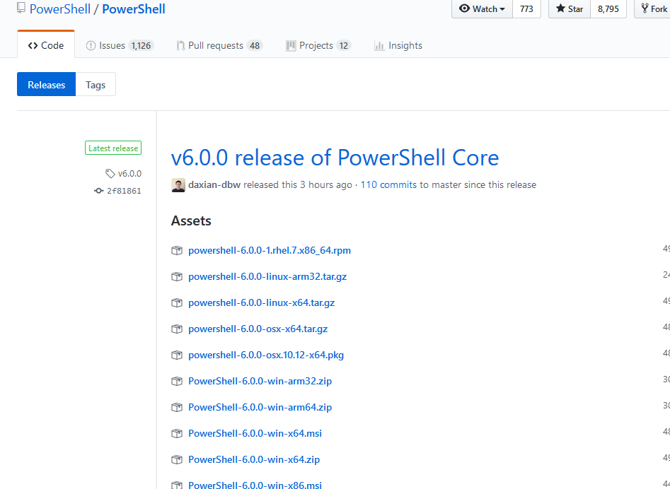 PowerShell Core 6.0 Released